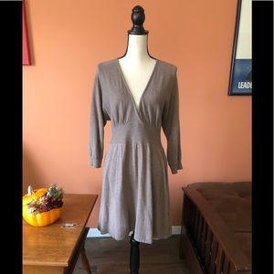 EXPRESS taupe v-neck sweater dress